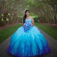 apfelgrün organza kleid großhandel-günstige hellblau quinceanera kleid tüll 2019 abendkleider herzförmiger ausschnitt abendkleider perlen schnür prom kleider