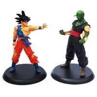 Wholesale fine finishing - 1 set Dragon ball Action figures toy Goku & Piccolo 2 pcs set about 23cm high Fine gifts retail