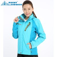 Wholesale Ladies Hooded Jacket Xxl - Outdoors Winter SoftShell Fleece For Women's Jackets Casual Sports Warm Windproof Breathable Waterproof Ski Suits Ladies Hoodies Coats S-XXL
