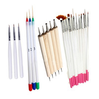 Wholesale Dot Liners - Free Shipping Fashion 4 Set Painting Nail BrushDesign Painting Nail Liner Brushes Art and Dotting Nail Tools