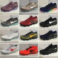 Wholesale Orange Braided Leather - Vapor Maxes knitted braid 2018 mesh men women running shoes, sport fashion vapor maxes weightlight trainer sneakers,size EUR 36-45