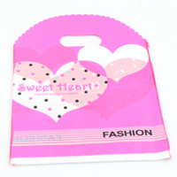 Wholesale Heart Shaped Plastic Bag - Hot sell ! Jewelry Pouches .200pcs 18x25cm Heart Shaped Plastic Bags Jewelry Gift Bag .