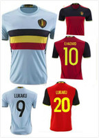 c0d4fbc76 Belgium Jersey 2016 2017 home away Red LUKAKU HAZARD VERMAELEN Kompany DE  BRUYNE Fellaini national team Belgium soccer jersey shirts ...
