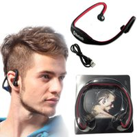 Wholesale Usb Music Note - S9 Stereo Headset Sports Bluetooth Speaker Headset Wireless Neckband Headphones In Ear Earphone Hifi Music Player For iPhone 6 Plus Note 4