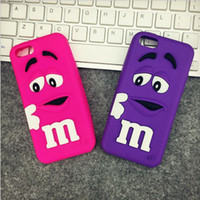 Wholesale Character Phone Cases - For iPhone 8 7 plus Case Silicone M&M'S Character Mobile Phone Back Cases Cover For iPhone 6 6s 5 5s