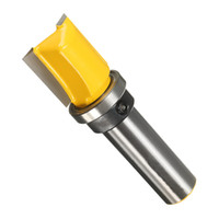 Wholesale Carving Bits - 1 PC 1 2'' Inch Shank Material Alloy Yellow Color Template Router Bit End Milling Durable Carving Cutter In Use Machine Tools