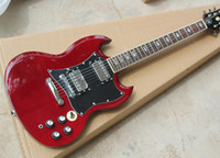 Wholesale Solid Rosewood Electric Guitar - Wine Red Electric Guitar with Black Pickguard,Chrome Hardware,Rosewood Fingerboard, Can be Customized as Request