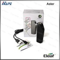 eleaf tc toptan satış-100% Orijinal Eleaf Aster TC Mod 75 W VW / Bypass / Akıllı / TC Modları Firmware İle Availble Desteklenebilir Tek 18650 Hücre
