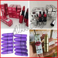 Wholesale Wholesale Quality Cosmetics - Factory Sale ! High quality New Arrivals M Brand Makeup Selena matte lipstick Cosmetics 12 colors kylie jenner gold kkw lipstick