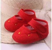 Wholesale Baby Girl Red Bottom Shoes - 0 to 6 months baby shoes qiu dong female male 1 year old baby shoes 0-3 - December toddler soft bottom step before children shoes