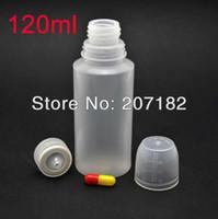 Wholesale Wholesale Medicine Cups - (200sets lot) 120ml translucent HDPE bottle, liquid bottle, medicine bottle,dropper bottle ( measuring cup cap)