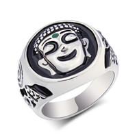 Wholesale Chinese Buddha Ring - Jewelry Mens Stainless Steel Chinese Ancient Buddha Rings,Jewelry Punk Men's Stainless Steel buddha Ring