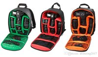 Wholesale video compact - New Pattern DSLR Camera Bag Backpack Video Photo Bags for Camera d3200 d3100 d5200 d7100 Small Compact Camera Backpack