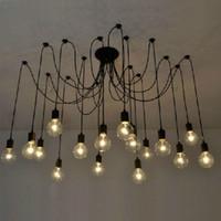 boules de chandelier en verre contemporain achat en gros de-3/6/8/10/12/14 / 16Heads Mordern nordique rétro Edison ampoule lumière, plafonnier vintage industrielle, Edison pendentif ampoule titulaire