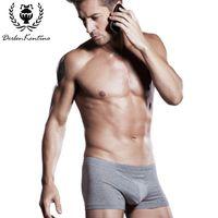 Wholesale Men S Boxers Designs - Wholesale-95% Cotton Men Boxer Cueca Underwears Derlen Kentino Brand U-type 3D Stereoscopic Design Fashion Sexy Mens Underwear Boxers 8762
