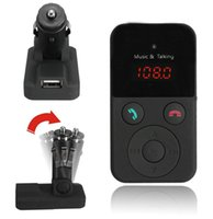 Suporte a monitores Novo Wireless baratos Bluetooth Car Kit Transmissor FM MP3 Player LCD SD USB Controle Remoto DHL