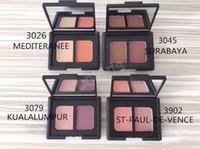 sombra de duas cores venda por atacado-DHL grátis 100 pcs maquiagem duo sombra sobrancelha pó fosco terra duas cores da sombra de longa duração paleta de duas cores naturais