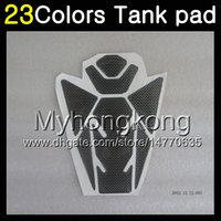 Wholesale Gsxr Carbon Fiber - 23Colors 3D Carbon Fiber Gas Tank Pad Protector For SUZUKI GSXR1000 13 14 15 16 GSXR 1000 GSX R1000 K9 2013 2014 2015 16 3D Tank Cap Sticker