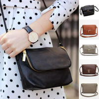 длинный плечевой ремень сумки оптовых-Wholesale- Ladies Shoulder Bags Cute Zipper Small Female Crossbody Women Bag Long Shoulder Strap Messager Bags Soft PU Leather Handbags