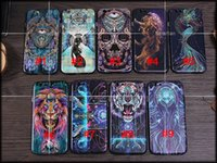 Wholesale Naked Cases For Iphone - 2016 tiger lion skeleton peacock dream catcher naked beauty Skyeye pattern phone case cover Fitted Case For iPhone 6 6s 6 plus iphone 5s SE