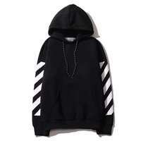 Wholesale hip hop models - basic models oblique striped sweater with letters cotton Hoodie Leisure hip-hop big code set head Street fashion Hoodie