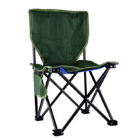 Wholesale Canvas Beach Chairs - Wholesale-Portable Stable Foldable Canvas Chair Seat Lightweight Seat for Hiking Fishing Picnic Barbecue Beach Chair Other Fishing Tools