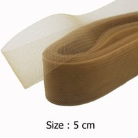 "Wholesale Horsehair Braid Crinoline - 2"" 5cm Flat Plain Horsehair Crinoline Chrinolin Mesh Braid For Women 100yard lot"