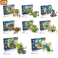 Hot selling LOZ Robot Electric Building Blocks Assembly DIY Educational Dinosaur Model Toys For Children Kids Gifts 3011-3018 Education toys