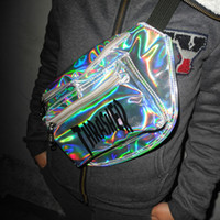 Wholesale Laser Cross - Wholesale-2016 new ulzzang HARAJUKU laser colorful chest pack skateboard bag messenger bag waist pack