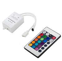 Mini IR Remote Controller 2 порта DC 12V для RGB SMD 5050 3528 Led Strip Wireless 24 Keys 44 Keys