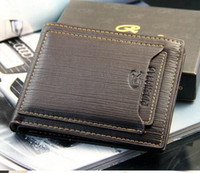 Wholesale Mens High Design Wallets - Exports New mens brand design leather luxury purses wallet short cross high quality wallets for men free shipping