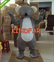 Wholesale Adult Koala Bear Costume - Wholesale-New Koala Bear Mascot Costume Adult Size Fancy Dress Cartoon Party Outfits Funny Suit Free Shipping