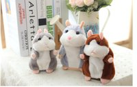 Wholesale cute hamsters online - Lovely Talking cm Hamster Plush Toy Cute Speak Talking Sound Record Hamster Talking Toys for Children