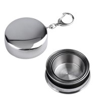 Wholesale Portable Steel - Stainless Steel Portable Outdoor Travel Camping Folding Foldable Collapsible Cup 75ml