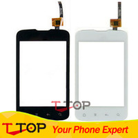 Wholesale fly jazz - Wholesale- Fly IQ238 Jazz Touch Screen With Panel Digitizer Replacement Parts Black White Color 1PC Lot