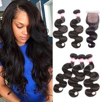 Prix ​​d'usine Indian Virgin Human Hair Bundles with Silk Base Closure 4x4 Indian Body Wave Very Soft