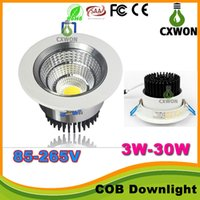 Wholesale dimmable switches resale online - 2016 Newest Led Recessed COB Downlights W W W W W Dimmable Led Ceiling Down Lights Angle Warm Cool White AC V