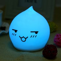 Wholesale Light Sensors For Sale - Wholesale- Hot Sale LED Nightlight Lamp For Gift Touch Sensor Cute Water Drop Night Light AAA Batery Powered Home Decor Bedroom
