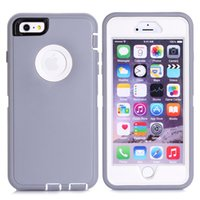 Wholesale Iphone 5c Tpu Case Screen - DHL free flea market resource mobile phone case brand heavy duty hard pc tpu shell with screen protector for iPhone 6 6s plus 5s 5c Samsung