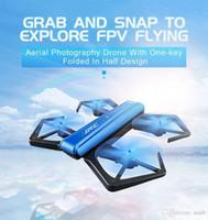 mini camara de avion al por mayor-JJRC H43WH H43 Selfie Elfie Wireless FPV con 720P Altitud de la cámara Mantener Modo sin cabeza Brazo plegable RC Racing Aircraft Mini Drone