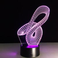 ingrosso cerchio cerchio chiaro-La quinta batteria di Dropshipping 3D del cerchio 3D di notte di illusione ottica della lampada di notte 5V USB dell'estratto all'ingrosso Dropshipping libera la scatola al minuto di trasporto