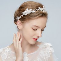 Atacado Vintage Crystal Beaded Flower Bridal Hair Vine Crown Charm Headband Wedding Headpiece 2018 New Arrival Acessórios para o cabelo
