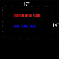 """Wholesale Custom Glass Windows - Personalized Custom Design Real Glass Neon Light Sign Home Beer Bar Pub Recreation Room Game Room Windows Garage Wall store Sign (17""""x14"""" )"""
