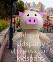Wholesale Mascotte Pig - New EN 71 pig mascot costume adult plush mascot theme anime costumes mascotte fancy dress kits for sport carnival
