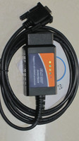 Wholesale Cable Obd2 Rs232 - elm327 usb plastic elm327 rs232 com obd2 the best quality free epacket post obdii can bus