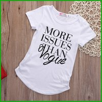 Wholesale promotion clothes online - girls white t shirt fashion killing promotion price factory outlet short sleeve baby children clothing kids letter print tops