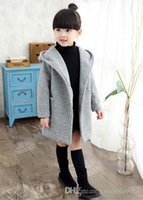 Wholesale Boys Girls Winter Cashmere Coat - Girls Winter Coats Boys and girls woolen blend Warm Jacket Kids Long sleeve Jackets kids coat children's winter Coat clothing.SA-2619