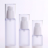 Wholesale Pump For Lotion - 15ml 30ml 50ml Frosted Body Bottles Clear Airless Vacuum Pump Empty for Refill Container Lotion Serum Cosmetic Liquid F20172226