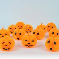 ingrosso palla di gomma principale-2016 Halloween LED Pumpkins Balls Cartoon Pumpkins Emoji lampeggiante Gomma squish Giocattoli per bambini 3 Design DHL Spedizione E1472