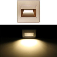 Wholesale Led Lamps For Cheap - Cheap Frosted Glass Wall Lamps Modern White Warm White Ressessed Square Colorful LED Footlights Indoor Lights for Stairs Corridors